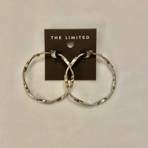 The Limited Twisted Silver Hoop Earrings